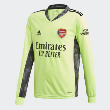 Kids Football Green Arsenal 20/21 Away Goalkeeper Jersey