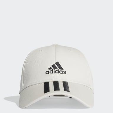 Tennis Grey Baseball 3-Stripes Twill Cap