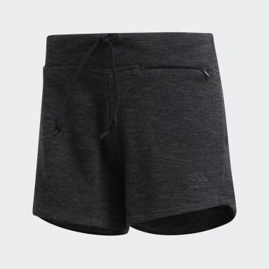 Pantalón corto ID Mélange Negro Mujer Sportswear