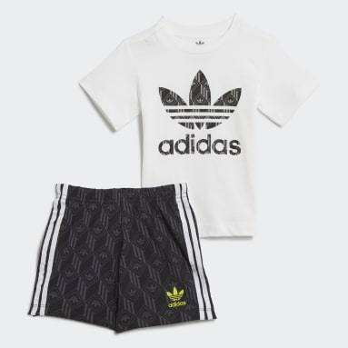 Kids Originals White Shorts and Tee Set