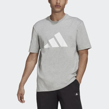 Men Sportswear Grey adidas Sportswear Future Icons Logo Graphic Tee