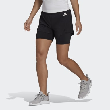 Dames Fitness En Training Zwart Primeblue Designed To Move 2-in-1 Sport Short