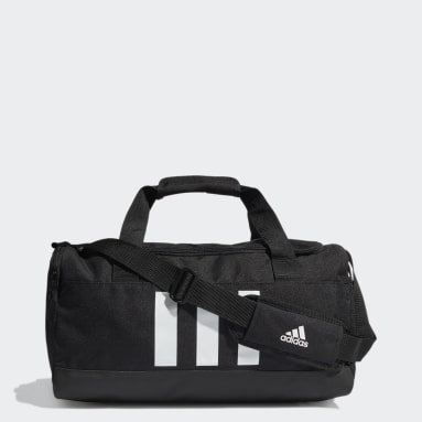 Lifestyle Black Essentials 3-Stripes Duffel Bag Small