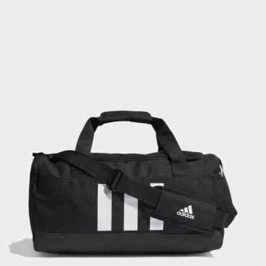 Lifestyle Black Essentials 3-Stripes Duffel Bag Small