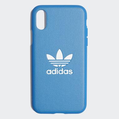 Coque Basic Logo iPhone X Bleu Originals