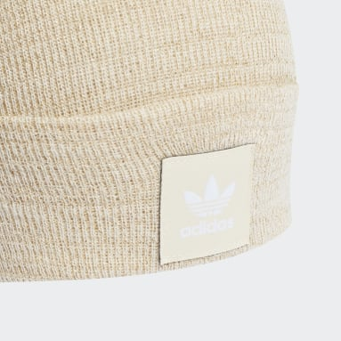 Originals bílá Čepice Adicolor Cuff Knit Glitter