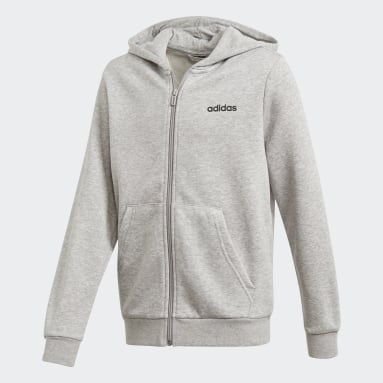 Veste à capuche Essentials Linear Gris Garçons Sportswear