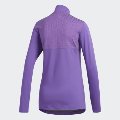 Women's Golf Purple Half-Zip Knit Jacket