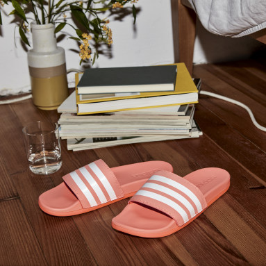 Women Swimming Orange Adilette Comfort Slides