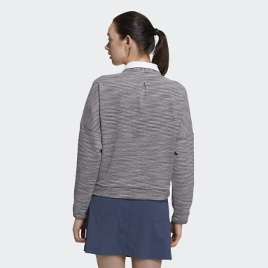 Women Golf Grey Crew Sweater