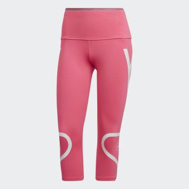 Ženy adidas by Stella McCartney růžová Legíny TRUEPACE 3/4
