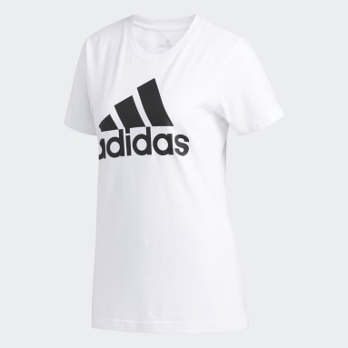 Women's Essentials White Badge of Sport Tee