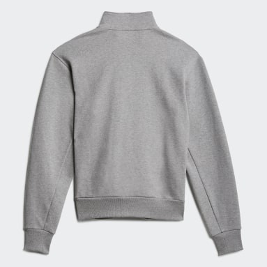 Originals Grå Heavyweight Shmoofoil 1/4 Zip Sweatshirt (Gender Neutral)