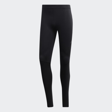 Men Running Black Supernova Long Tights