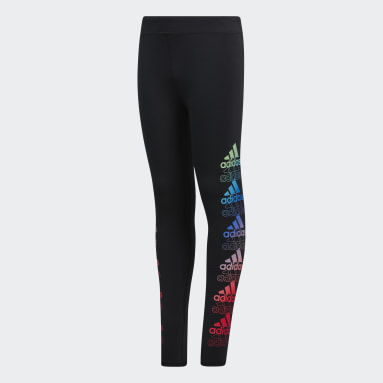 Youth Training Black Core Graphic Tights
