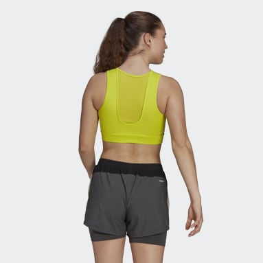 Top Deportivo Designed 2 Move AEROREADY Amarillo Mujer Training