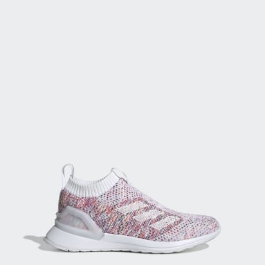 Youth Running White RapidaRun Laceless Shoes