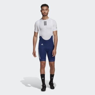 The Padded Cycling Bib Shorts Niebieski