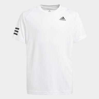 Genç Tenis Beyaz Club Tennis 3-Stripes Tişört