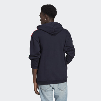 Men Originals Blue SPRT 3-Stripes Hoodie