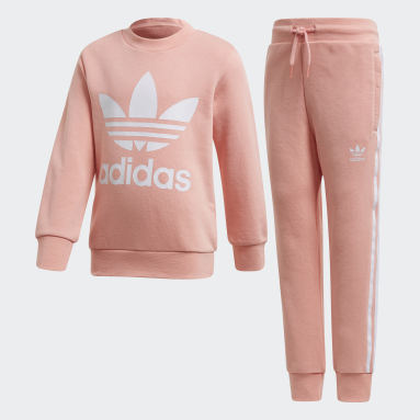 Kids Originals Pink Crew Sweatshirt Set