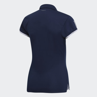 Polo Club 3 Franjas Azul Mujer Tennis