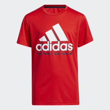 Youth Training Red Shadow Badge of Sport Tee