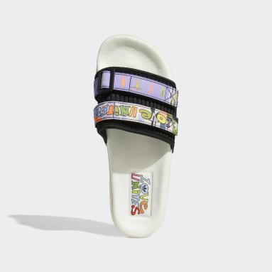 ผู้ชาย Originals สีขาว รองเท้าแตะ Adilette 2.0 Pride