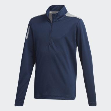 3-Stripes Half-Zip Pullover Blå