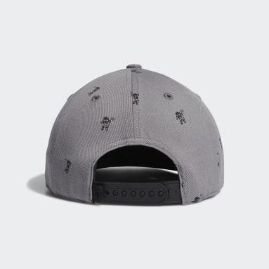 Boys Golf Grey Flat-Bill Cap