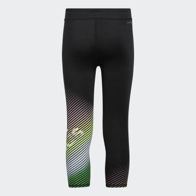 Youth Training Black Innovation Graphic 7/8 Tights