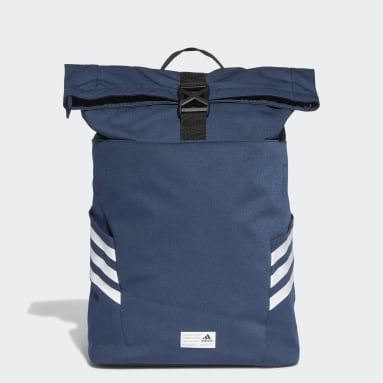 Gym & Training Blue Classic Roll-Top Backpack