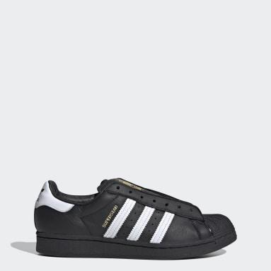 Sapatos Sem Atacadores Superstar Preto Mulher Originals