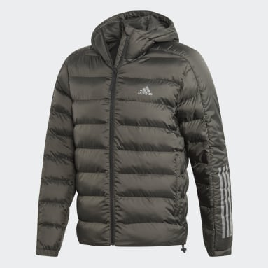 Men City Outdoor Grey Itavic 3-Stripes 2.0 Winter Jacket