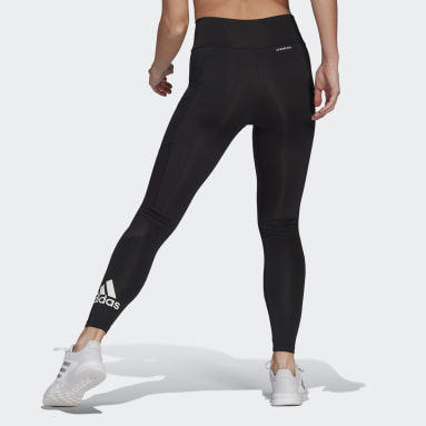 Women Gym & Training Black Designed To Move Big Logo Sport Tights