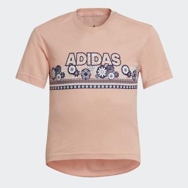 Meisjes Fitness En Training Roze Cotton T-shirt