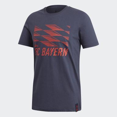 Men Football Blue FC Bayern Street Graphic T-Shirt