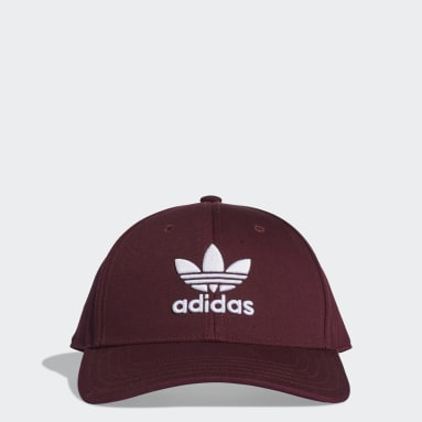 Originals Burgundy Trefoil Baseball Cap