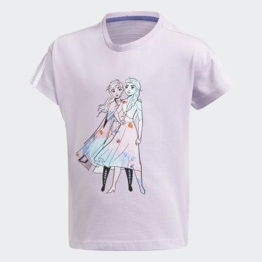 Girls Gym & Training Purple Disney Frozen Tee