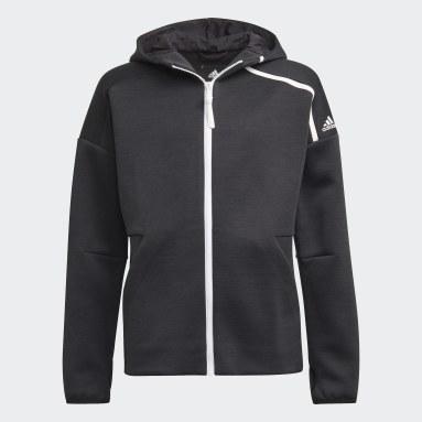Boys Gym & Training Black adidas Z.N.E. Sportswear Hoodie Feat. Fast-Release Zipper