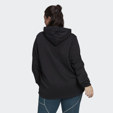 Women's Essentials Black adidas x Zoe Saldana Hoodie (Plus Size)