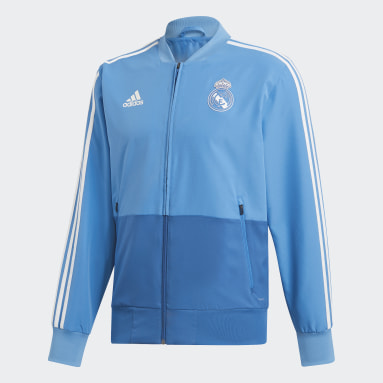 Men Football Blue Real Madrid Presentation Jacket