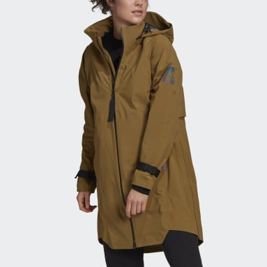 Women's Hiking Green MYSHELTER RAIN.RDY Parka