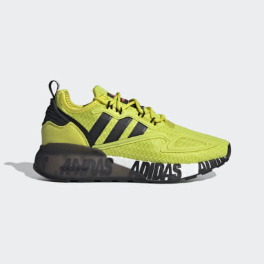 Chaussure ZX 2K Boost jaune Adolescents Originals