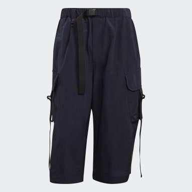 Men Y-3 Blue Y-3 CH2 Sporty Seersucker Shorts