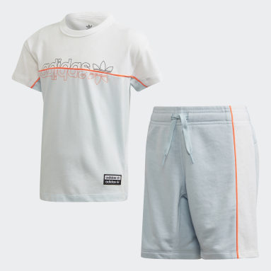 Children Originals Blue Shorts Tee Set