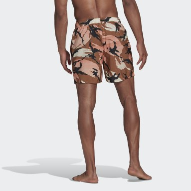 Short de bain Short-Length Graphic Marron Hommes Natation