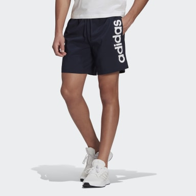 Men Sport Inspired Blue AEROREADY Essentials Chelsea Linear Logo Shorts