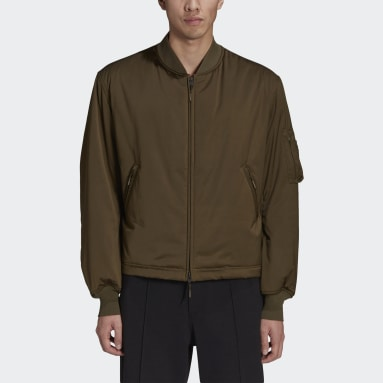 Men Y-3 Green Y-3 Classic Bomber Jacket