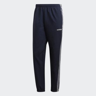 Men Gym & Training Blue Essentials 3-Stripes Tracksuit Bottoms